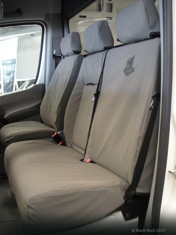 Be Sure You Fit Black Duck Seat Covers To Your VW T6 Transporter