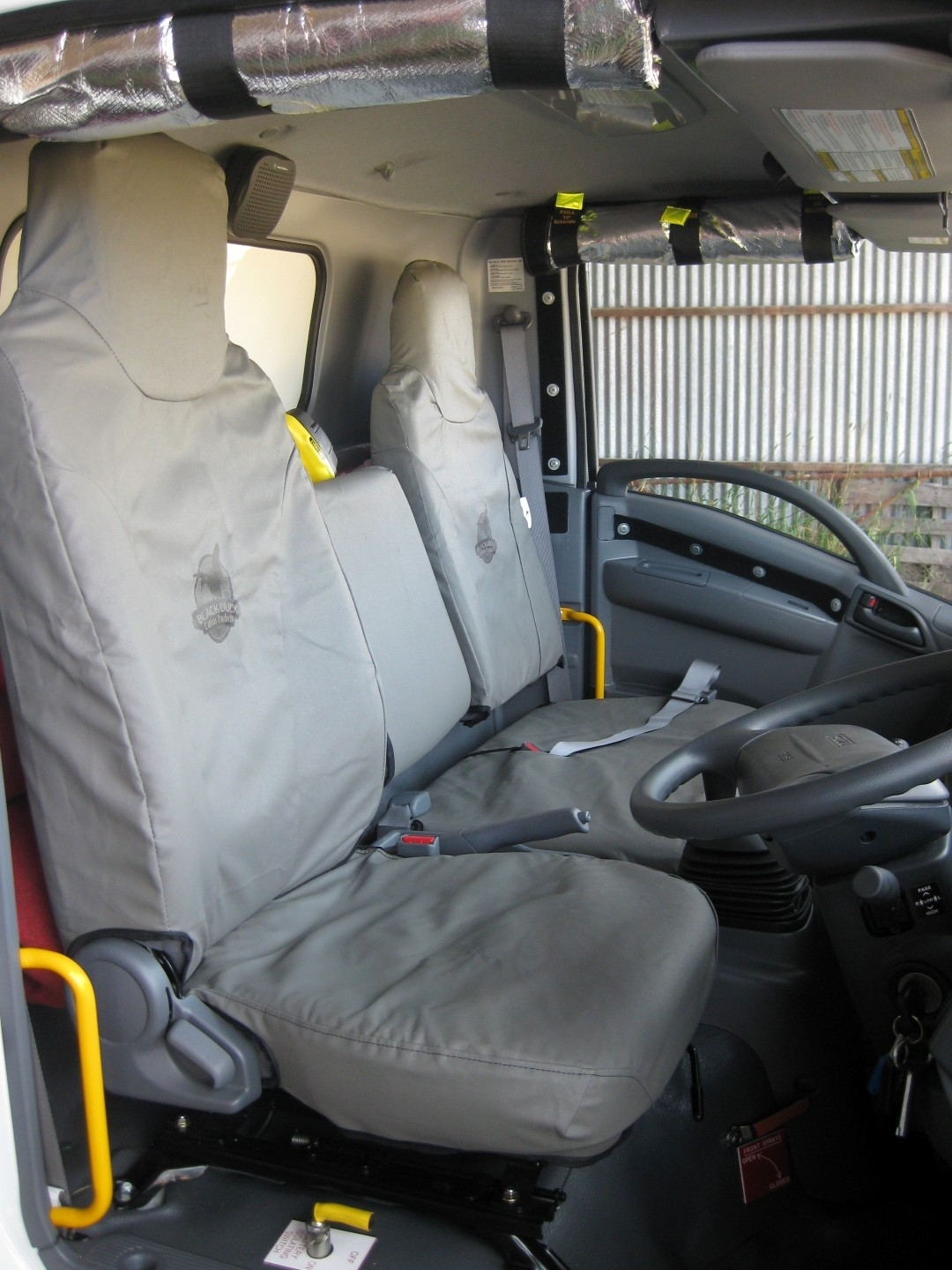 Black Duck Canvas Seat Covers.