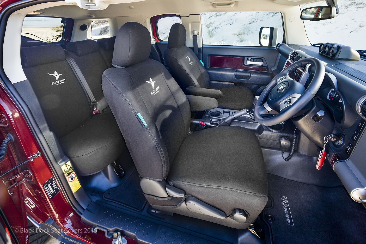 Black Duck Seat Covers Suitable For Toyota Fj Cruiser 2011