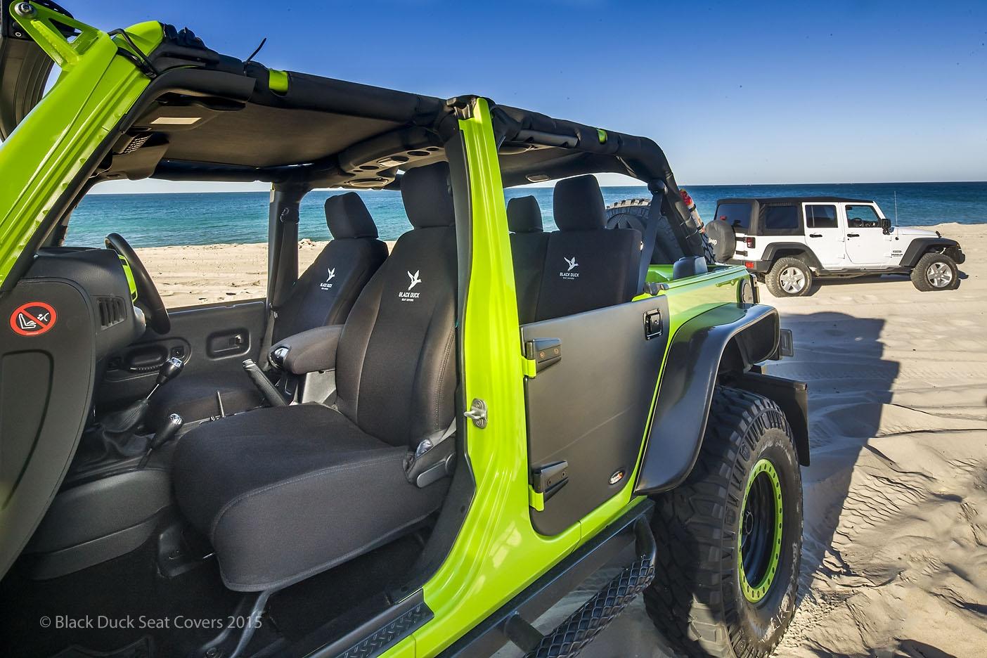 Superb Black Duck Seat Covers Chrysler Jk Jeep Wrangler Front Rear Machost Co Dining Chair Design Ideas Machostcouk