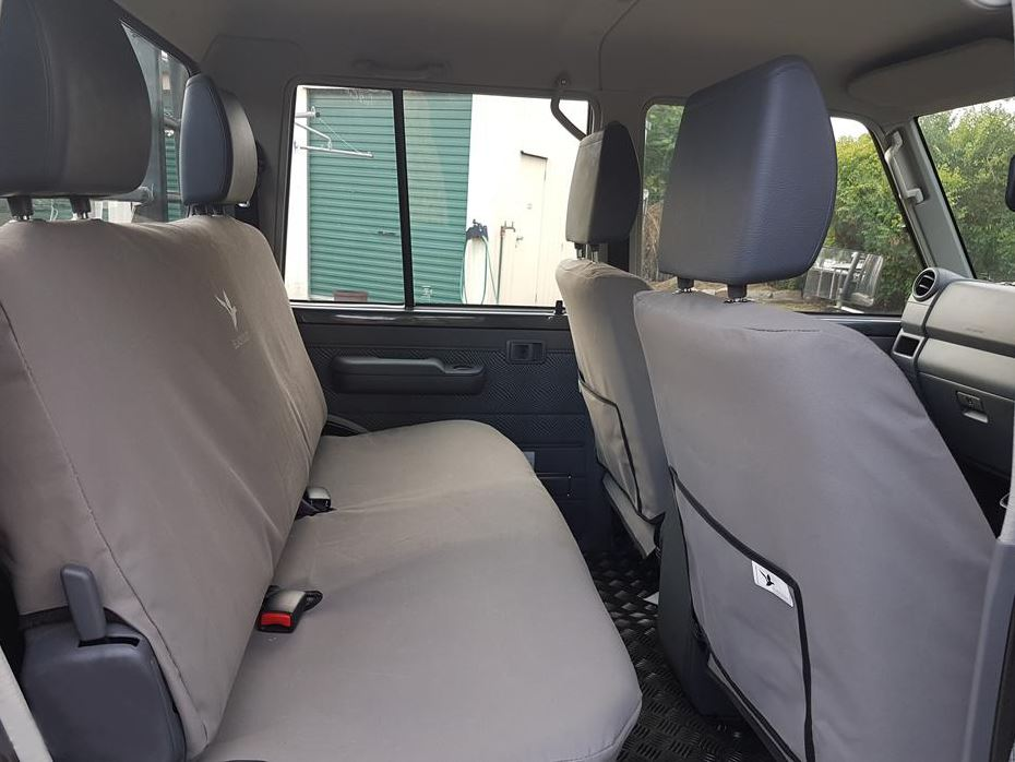 Black Duck Seat Covers To Fit Landcruiser 79 Series Double Cab
