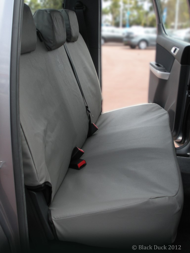Ford Everest Row 2 Rear Bench Black Duck Seat Covers
