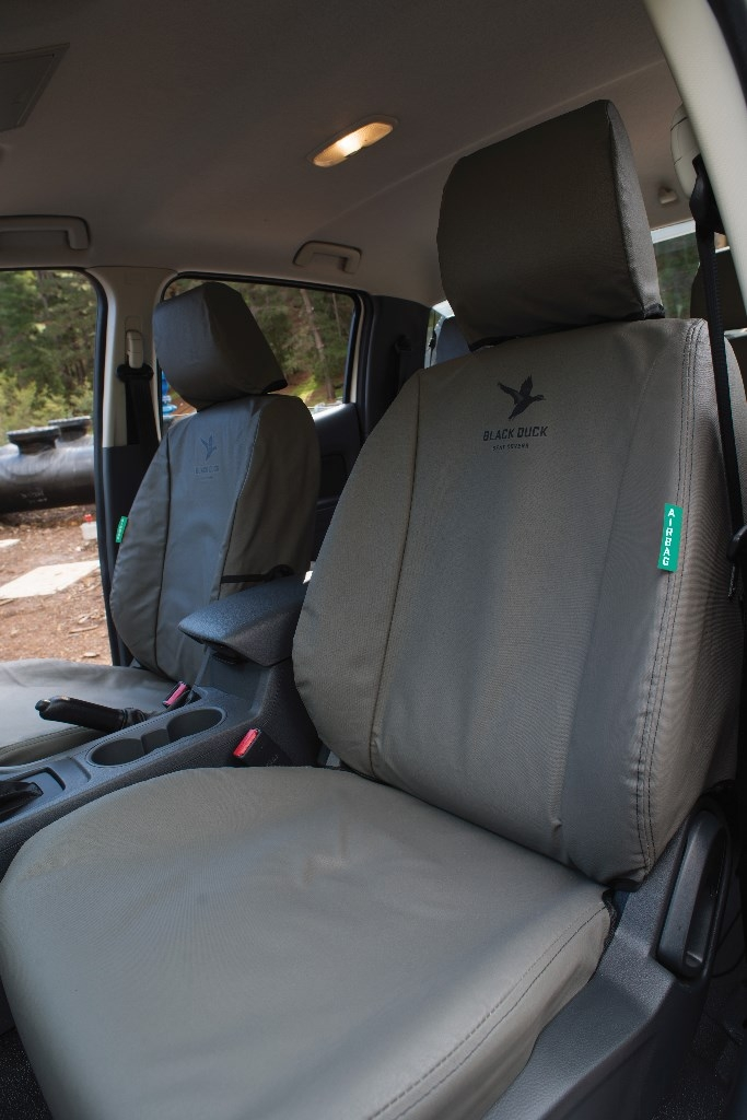 Ford Ranger Px1 Dual Cab Black Duck Seat Covers