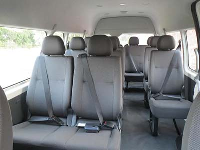 14 Seat Toyota Hiace Commuter Bus 2005 Black Duck Seat Covers