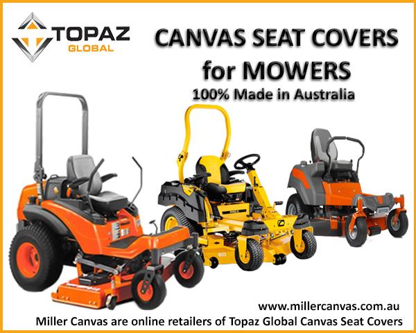 Canvas Seat Covers -to suit- KUBOTA BARONESS Series MOWER GM2800B