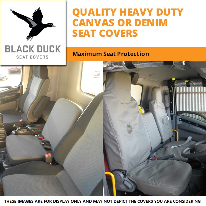 Black Duck Seat Covers Mitsubishi Fuso Canter