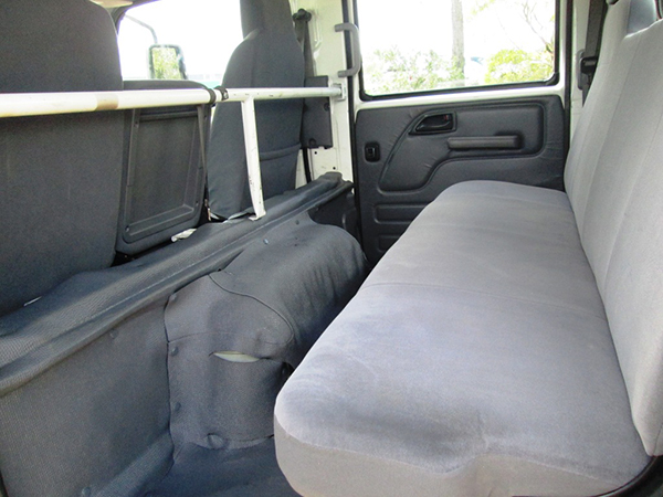 BLACK DUCK Seat Covers ISUZU Crew Cab NNR NPR NPS NQR rear seat