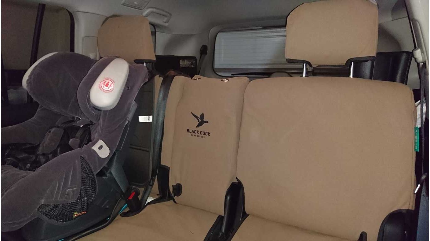Black Duck CanvasTM Seat Covers Brown Canvas Row 2 Rear In A