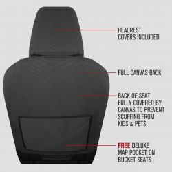CANVAS SEAT COVERS suitable for TOYOTA HILUX SR and SR5 DUAL CAB - from 7/2015 - CURRENT