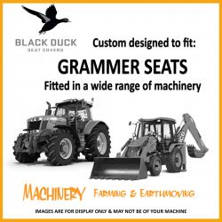 Black Duck seat covers to suit GRAMMER MSG722