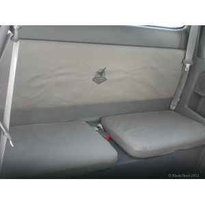 Black Duck Seat Covers suitable for X-TRA Cab Rear Bench All Toyota Hilux Workmate, SR & SR 05/2005 - 06/2015