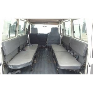 4 Side Facing Rear Seats - Black Duck Seat Covers- suitable for Toyota Troop Carrier.