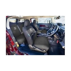 Black Duck Seat Covers - Row Two Rear Bench 60/40 split  - suitable for TOYOTA FJ Cruiser 2011- Current