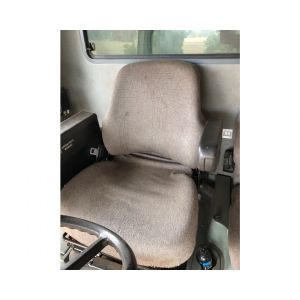 CONFIRM your seat by comparing it with the seats in the images, these seats are used in a wide variety of machines, they may be upholstered in either by cloth or vinyl. Machines including: New Holland SP Windrower, Case IH Headers, Case IH Tractors, Cat Backhoe Loaders, Macdon SP Windrower