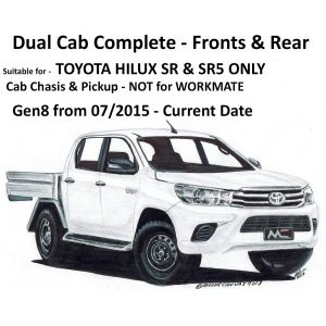 BUY  Black Duck® SeatCovers - SR, SR5 DUAL CAB COMPLETE - Suitable for TOYOTA HILUX SR & SR5 - NOT for WORKMATE - from 07/2015 onwards.