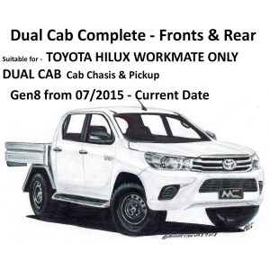 BUY Black Duck® SeatCovers - WORKMATE DUAL CAB COMPLETE – suitable for TOYOTA HILUX  WORKMATE NOT SR & SR5 - from 07/2015 onwards..