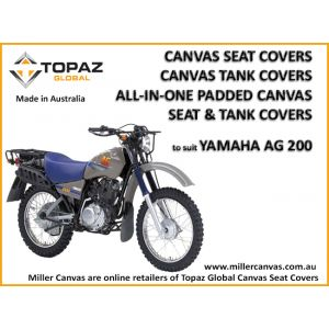 ALL-IN-ONE Padded Canvas - Seat and Tank Cover to suit YAMAHA AG200  MOTORCYCLE from 1987 onward.