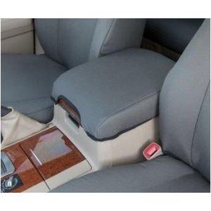 Black Duck® SeatCovers - Console Lid Cover - fits all LC200 variants. GREY DENIM SHOWN.
