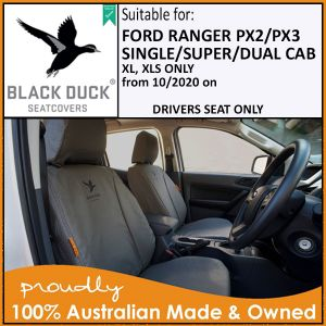 PX3 XL, XLS Ford Ranger - DRIVER SEAT COVER ONLY - from 10/2020 - CURRENT MODEL Black Duck® SeatCovers