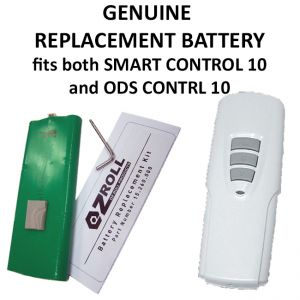 Genuine Ozroll replacement batteries to suit ODS Control 10 and Smart Control 10 supplied with a tool to remove the screw.