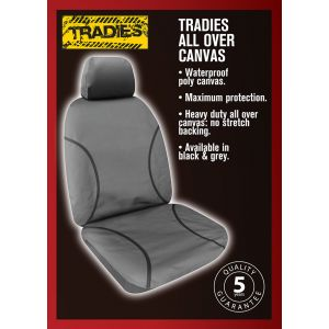 """""""TRADIES""""  CANVAS SEAT COVERS suitable for TOYOTA HILUX SR and SR5 05/2005 - 6/2015."""