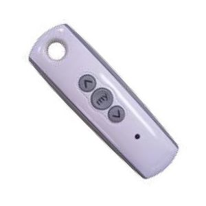 Ozroll SOMFY RTS handheld remote 1 Channel  SILVER available  white pictured Part# 14.241.416