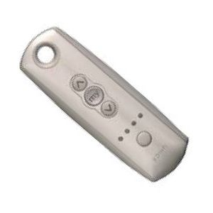 Ozroll SOMFY RTS handheld remote 4 Channel SILVER Part# 14.242.416
