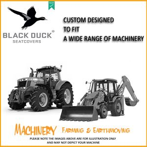 2009 - 2012   5088, 6088, 7088, 7120, 8120, 9120 CASE IH HEADERS Driver & Buddy set Black Duck® SeatCovers