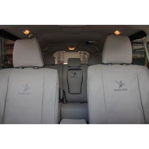 BLACK DUCK CANVAS PRODUCTS manufacture Australia's most POPULAR heavy-duty CANVAS or 4ELEMENTS SEAT COVERS to suit your Mitsubishi SPORT WAGON.